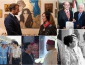 صور.. فنانون فى حضرة رؤساء الدول بعد لقاء ماكرون بفيروز