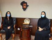 رئيسة القومى للمرأة تستقبل مريم خليفه الكعبي نائب رئيس بعثة الإمارات