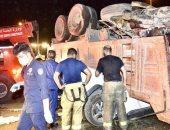 مصرع 3 وإصابة 5 آخرين فى حادث تصادم مروع على طريق الجهراء بالكويت