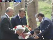 الرئيس العراقى يستقبل نظيره الفرنسى فى قصر السلام ببغداد