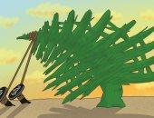 كاريكاتير صحيفة إماراتية..الفساد والطائفية يسقطان لبنان