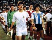 مارادونا وذكريات مباراة الجزائر من 41 سنة: لعبوا جيدا وبكيت بعد خروجى للإصابة