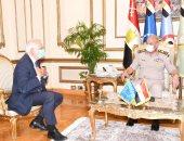 وزير الدفاع يلتقى بنائب رئيس المفوضية الأوروبية