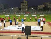 وزير الرياضة ورئيسة القومى للمرأة يشهدان مباراة استعراضية نسائية بملعب المركز الأولمبى