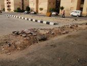شكوى من تحطم الأرصفة فى شوارع مشروع اسكان حدائق أكتوبر بدهشور