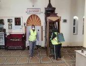 """""""أوقاف الأقصر"""" تستكمل حملات التعقيم والتطهير بالمساجد.. صور"""