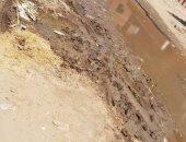 قارئ يشكو غرق شوارع قرية الأرنب بمياه الصرف الصحى ويطالب بحل