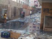 شكوى من انتشار مياه الصرف الصحى بشارع حنفى بمنطقة بشتيل