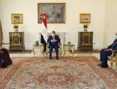 الرئيس السيسى يستقبل وزير خارجية البحرين فى قصر الاتحادية