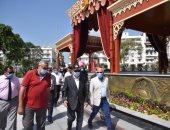 رئيس هيئة قناة السويس ومحافظ بورسعيد يتفقدان حديقة فريال التاريخية.. صور