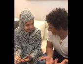 لاعب مصرى فى إيطاليا ينشر فيديو لزوجته تردد الشهادة بعد إسلامها.. فيديو