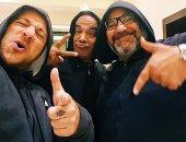 العصابة.. أحمد مكى وبيومى فؤاد وسليمان عيد بصورة واحدة على طريقة مطربى الراب