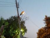 شكوى من عمود إنارة مائل فى شارع الميزان قرية آشفين بالقليوبية
