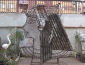 إبراهيم أعاد صناعة رأس كليوباترا باستخدام الشوك والملاعق (فيديو وصور)