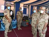 رئيس الأركان يشهد المرحلة الرئيسية لمشروع تكتيكى لإحدى وحدات الجيش الثانى