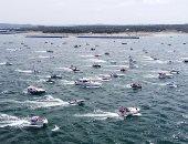 صور.. غرق عدة قوارب خلال عرض فى بحيرة بتكساس دعما لترامب فى الانتخابات