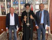 البابا تواضروس الثانى يلتقى رجل الأعمال نجيب ساويرس