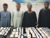 ضبط مخدرات وأسلحة نارية بدمياط وسوهاج