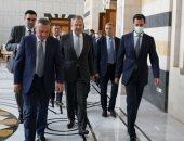 صور.. الرئيس السوري يجرى مباحثات مع وفد روسي فى دمشق