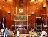 تجديد مبنى مجلس الشيوخ استعدادا لاستقبال الأعضاء وانعقاد الجلسات.. صور