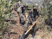 الجيش السورى يحاول تطويق حريق ضخم غربى مصياف