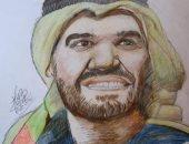 """""""كاراس"""" يشارك صحافة المواطن بلوحات لفنانين تظهر موهبته فى الرسم"""