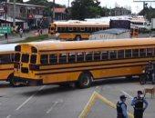 إضراب سائقى الأتوبيسات فى شوارع هندوراس للمطالبة بإعانة حكومية.. فيديو
