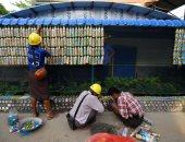 اللى بيته من بلاستيك ممكن يعيش فى ميانمار.. تحويل الزجاجات لمواد بناء.. ألبوم صور