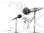 التعليم عن بعد هو الحل وسط أزمة كورونا فى كاريكاتير إماراتى