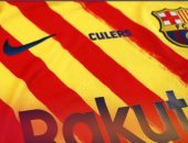 برشلونة يواجه خيمناستيكا بقميص يحمل ألون علم كتالونيا