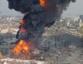 آخر تطورات حريق مرفأ بيروت.. ومصادر: نتوقع السيطرة على الحريق صباح الجمعة.. فيديو وصور