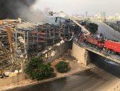 نيران مرفأ بيروت تخرج عن السيطرة.. والسلطات اللبنانية تحاول إخمادها.. فيديو