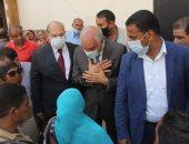 محافظ الجيزة يتفقد مركز خدمة المواطنين بكرداسة لمتابعة إجراءات التصالح بمخالفات البناء