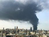 فيديو جديد للحريق الكبير في منطقة السوق الحرة بـ مرفأ بيروت
