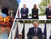 """فى ذكرى 11 سبتمبر.. ترامب يتوعد بملاحقة الإرهاب فى العالم.. الرئيس الأمريكى: لن نخضع لقوى الشر وقتلنا البغدادى وسلمانى فى عام واحد.. """"البنتاجون"""": سنواصل الدفاع عن أمننا وسنجلب كل قادة الإرهاب إلى العدالة.. صور"""