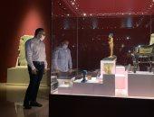 وزير السياحة يفتتح معرض مقتنيات الملك توت عنخ أمون بمتحف آثار الغردقة.. فيديو وصور