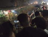 قارئ يرسل فيديو وصور لانقلاب أتوبيس ركاب بطريق السد طنان بمركز قليوب