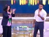 """أحمد العوضى ينتهى من تصوير حلقة جديدة فى برنامج """"معكم منى الشاذلى"""""""
