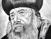 """البابا شنودة والشيخ الشعراوى.. لوحات فنية تبرز موهبة """"مينا"""" فى الرسم"""