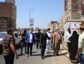 صور.. محافظ كفر الشيخ يقود حملة إزالة إشغالات ويتابع أعمال الرصف
