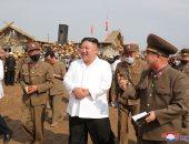 صور.. زعيم كوريا الشمالية يتفقد إعادة البناء فى منطقة تضررت من الفيضانات