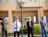 صور.. فريق الرقابة الصحية يتابعون تجهيزات مستشفى أرمنت للتأمين الصحى الشامل