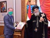 سفير كندا بالقاهرة يودع البابا تواضروس قبل العودة إلى بلاده