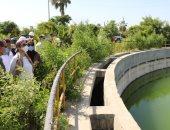 وزيرة البيئة ومحافظ كفر الشيخ يتفقدان محطة معالجة صرف صحى سخا