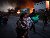 اليونان تتوقع معالجة أزمة المهاجرين فى جزيرة ليسبوس فى غضون أسبوع..صور