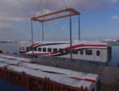 النقل تعلن وصول 13 عربة سكة حديد جديدة من روسيا عبر ميناء الإسكندرية.. صور