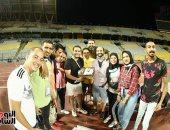 مصورو مباراة الأهلى والاتحاد يحتفلون بعيد ميلاد الدكش