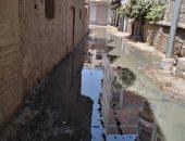 شكوى من غرق نوسا الغيط فى القليوبية بمياه الصرف الصحى