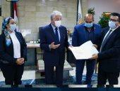 محافظ جنوب سيناء يكرم مدير عام التعليم ومديرى الإدارات التعليمية .. صور