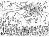 كورونا فيروس شرس يصيب مواطني العالم فى كاريكاتير إماراتى